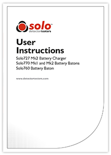 Solo Batteries and Chargers Instructions